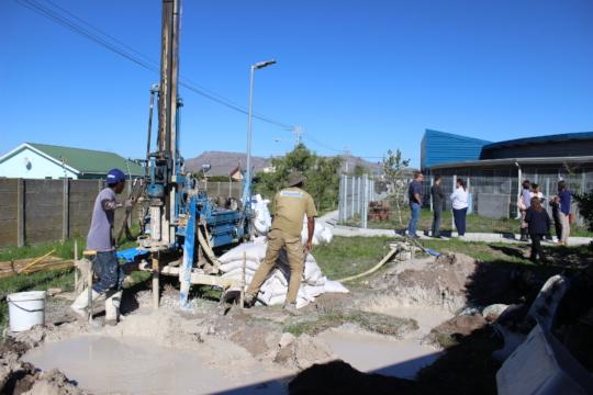 Borehole digging underway