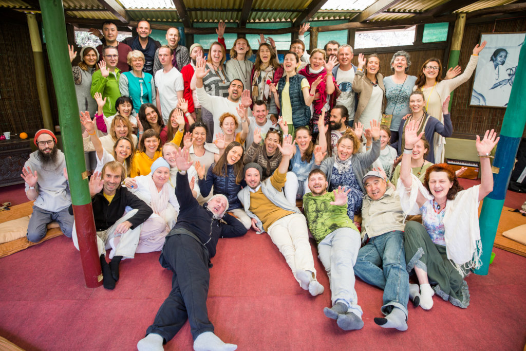 Russian Sangha meeting during One Sangha Gathering