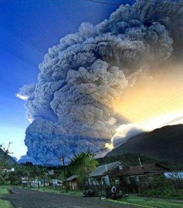 Chaiten Volcano eruption in Chile