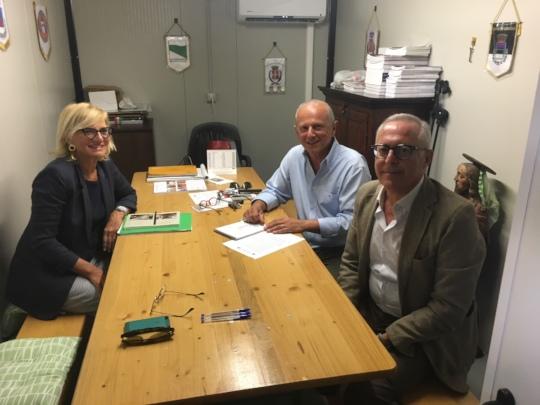 Meeting with the Mayor Luca Giuseppetti