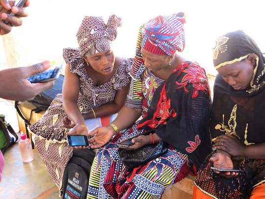Community Health Workers using the mHealth app