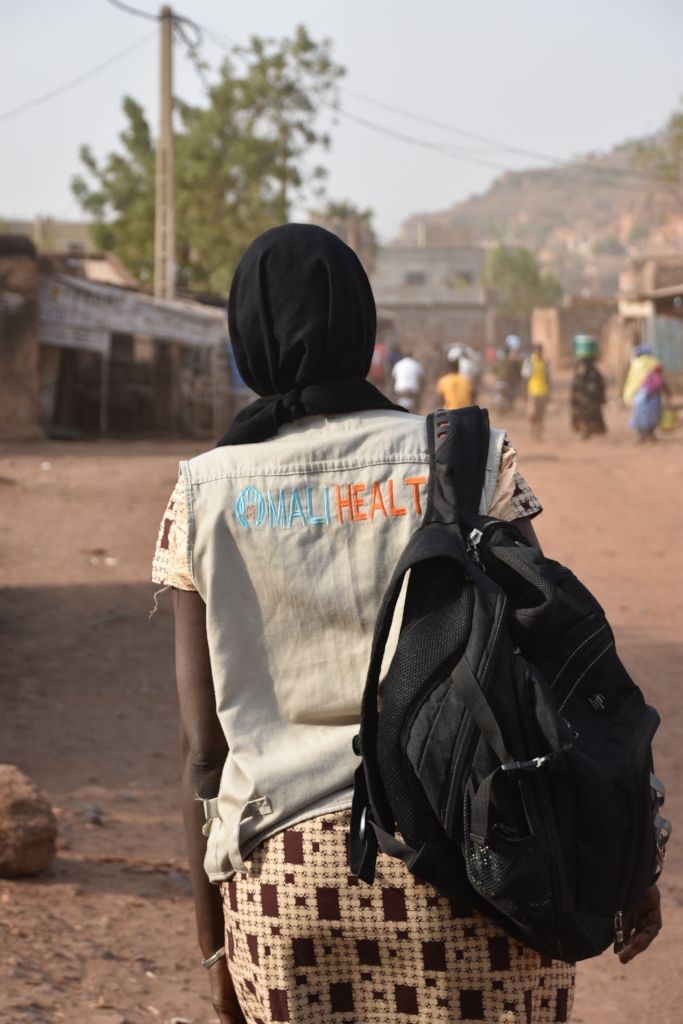 CHWs carry essential supplies in their backpack