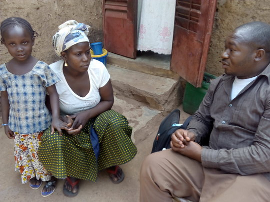 Moustaph meets with Awa and her children