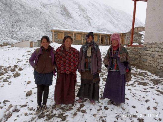 Girls attending Winter School