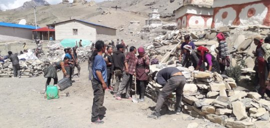 Villagers contribute hard work and energy