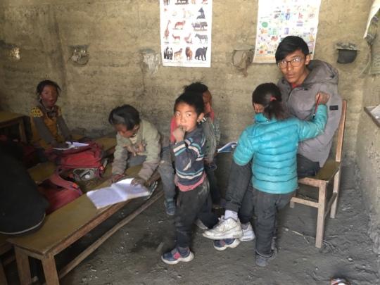 Tenzin teaching during his summer break