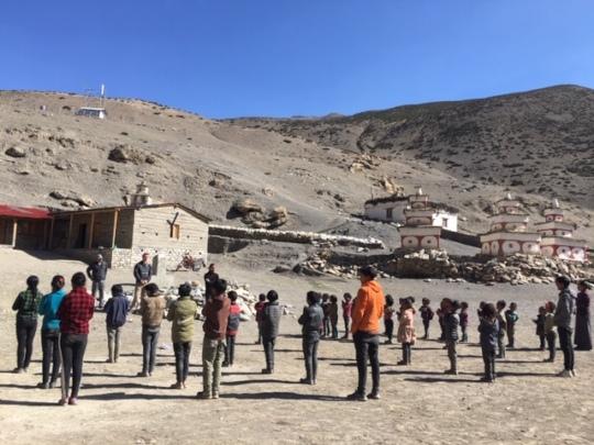 Outdoor Tsharka School assembly