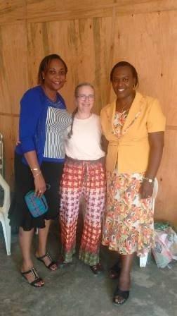 Bertha Small with FWA legal representatives.