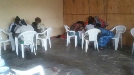 Small groups during a three-day trauma healing wor
