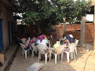 Self-help group meeting
