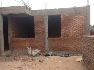 Competion of bricking of ground floor.