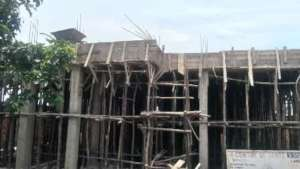 Status of Maternity Clinic as cement cures.