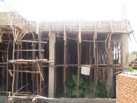 Current status of maternity ward construction.