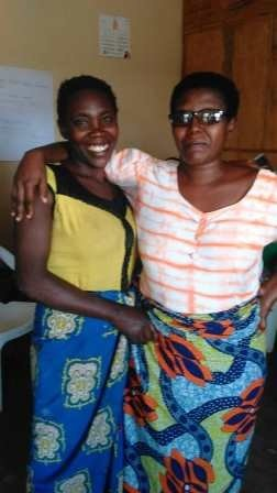 Two women who were reconciled after follow-up day