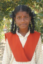 Surekha studying at Cuddalore Isha Vidhya School