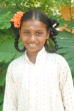 Preethi, a sponsorship student at Cuddalore school