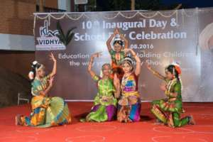 Girl students as part of cultural activities