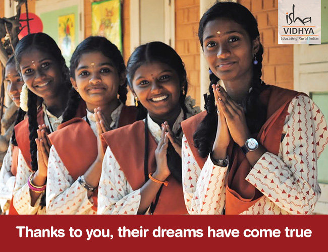 Girl Students Thank You