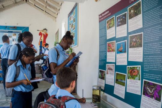 Students visit the Amuseum.
