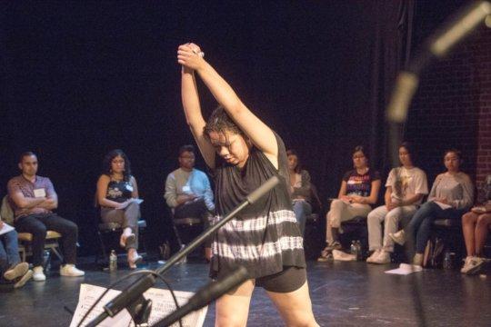 Leahnora's dancing tells a story