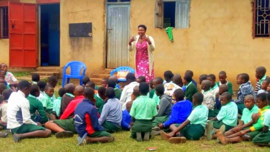 Teacher Lydia educates students about healing