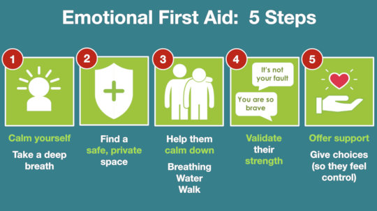 Lesson on how to deliver Emotional First Aid