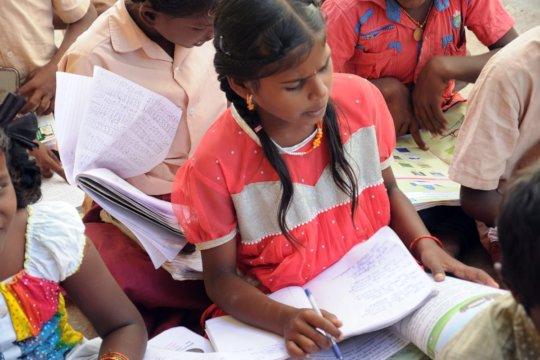 Preparing Exam for the poor children