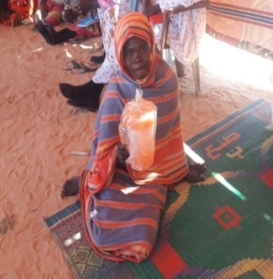 Murra in her village.