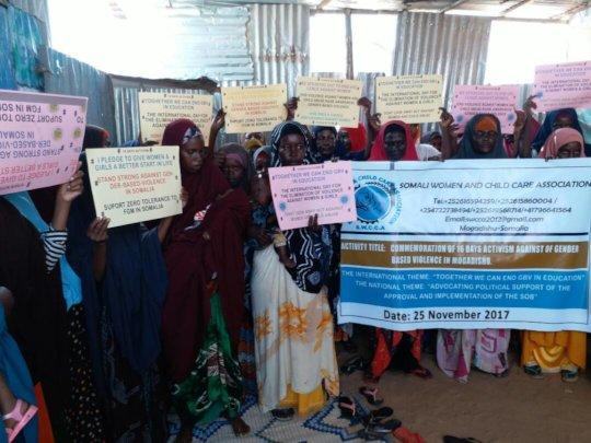 Providing services to 300 GBV survivors in Somalia