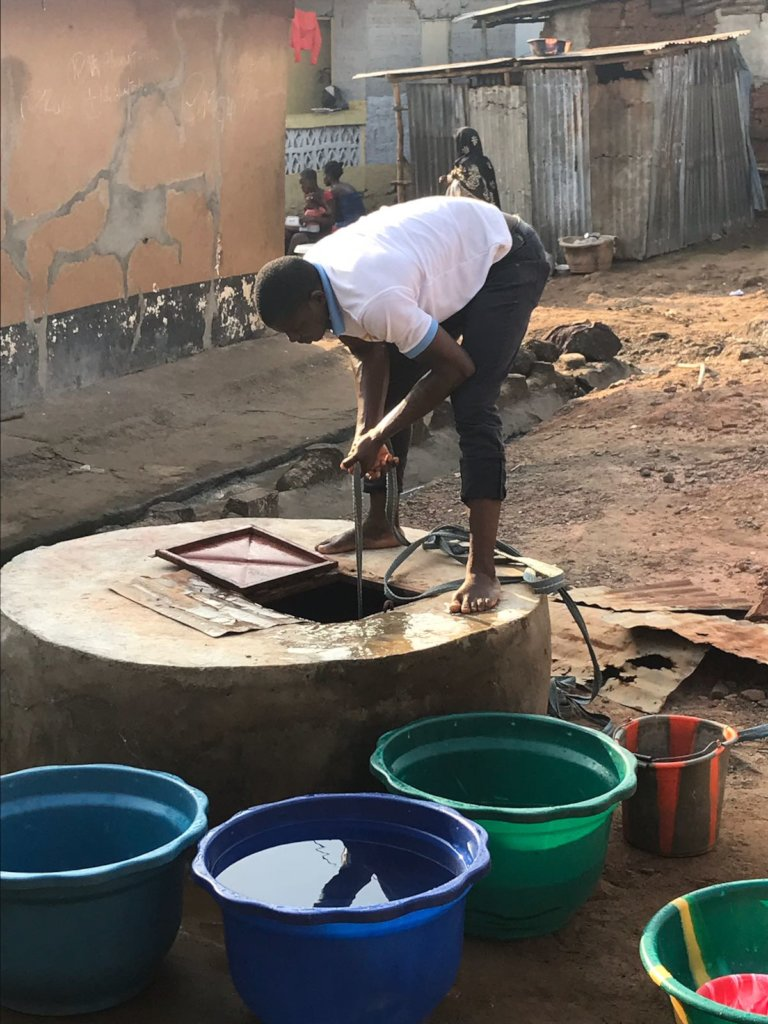 Provide water for 8,500 Sierra Leoneans