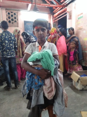 Receiving clothing donation