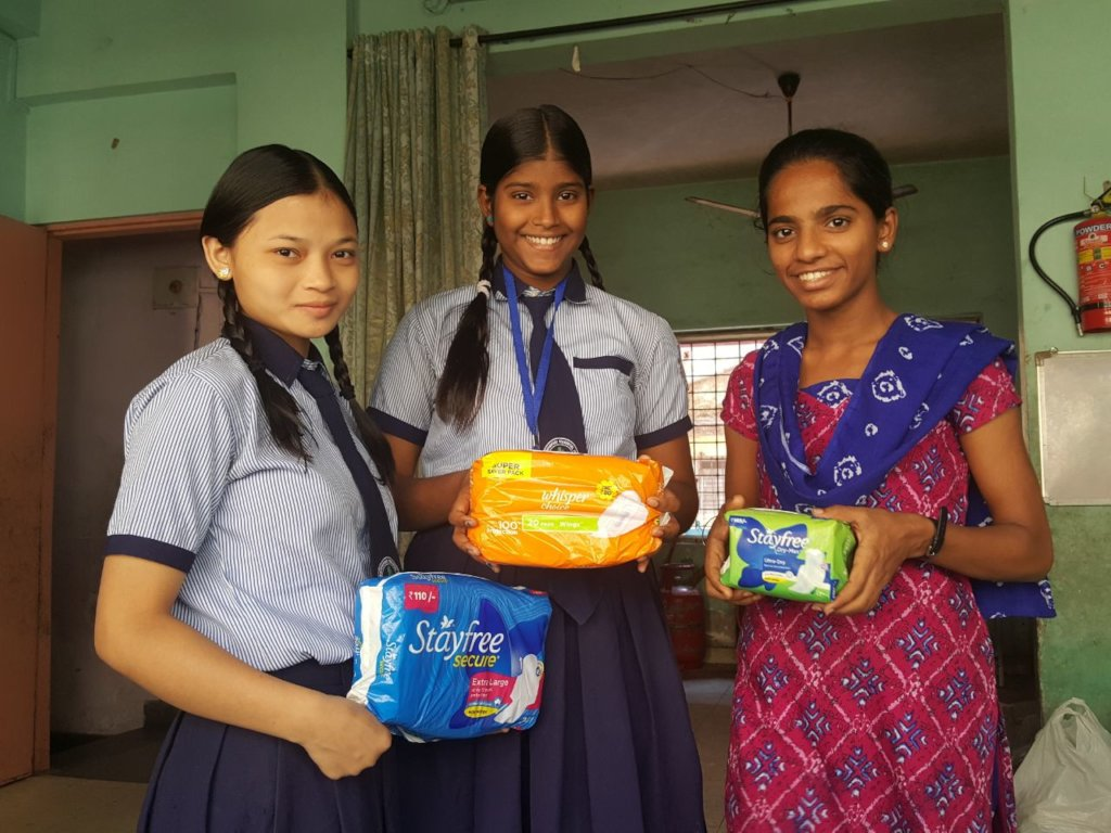 Menstrual Hygiene Kits for 1300 orphan girls,India