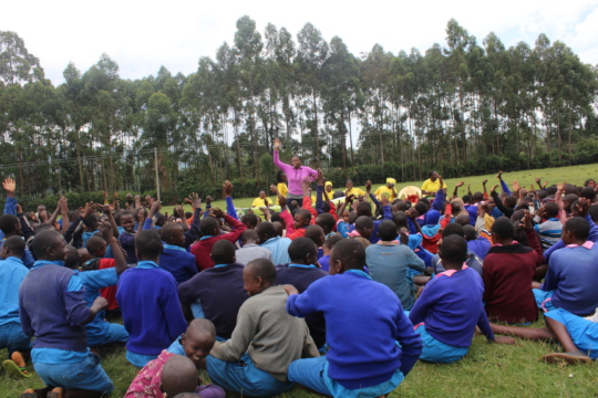 Tindereti pupils participating in sessions