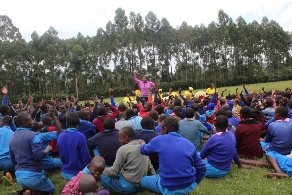 Tindereti pupils participating in sessions