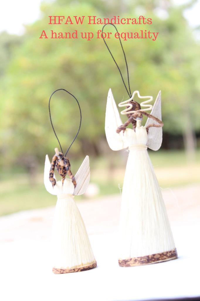 Christmas tree decor gift-Angels made of sisal & b