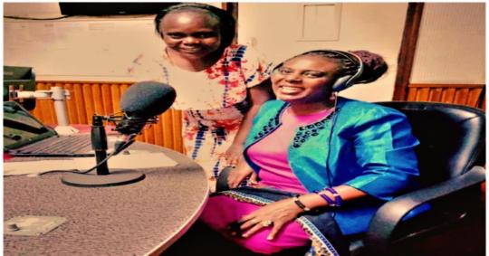 HFAW CEO, Grace (right) and Nancy, radio presenter