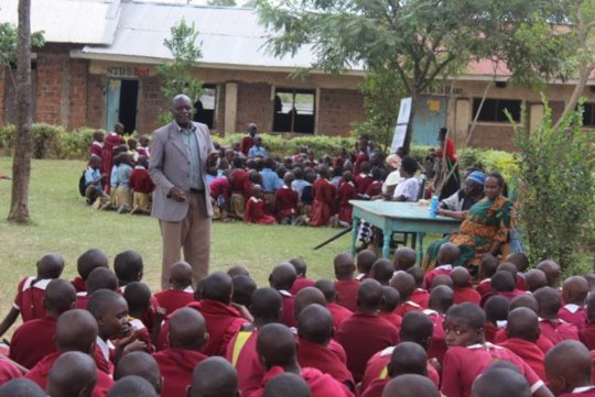 Mr. Yebesh Orina addressing the girls