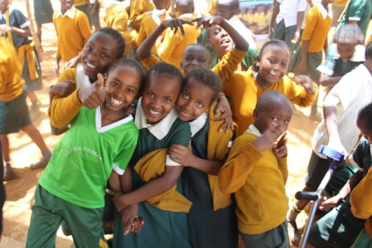 Murema pupils after anti FGM/early pregnancy sessi