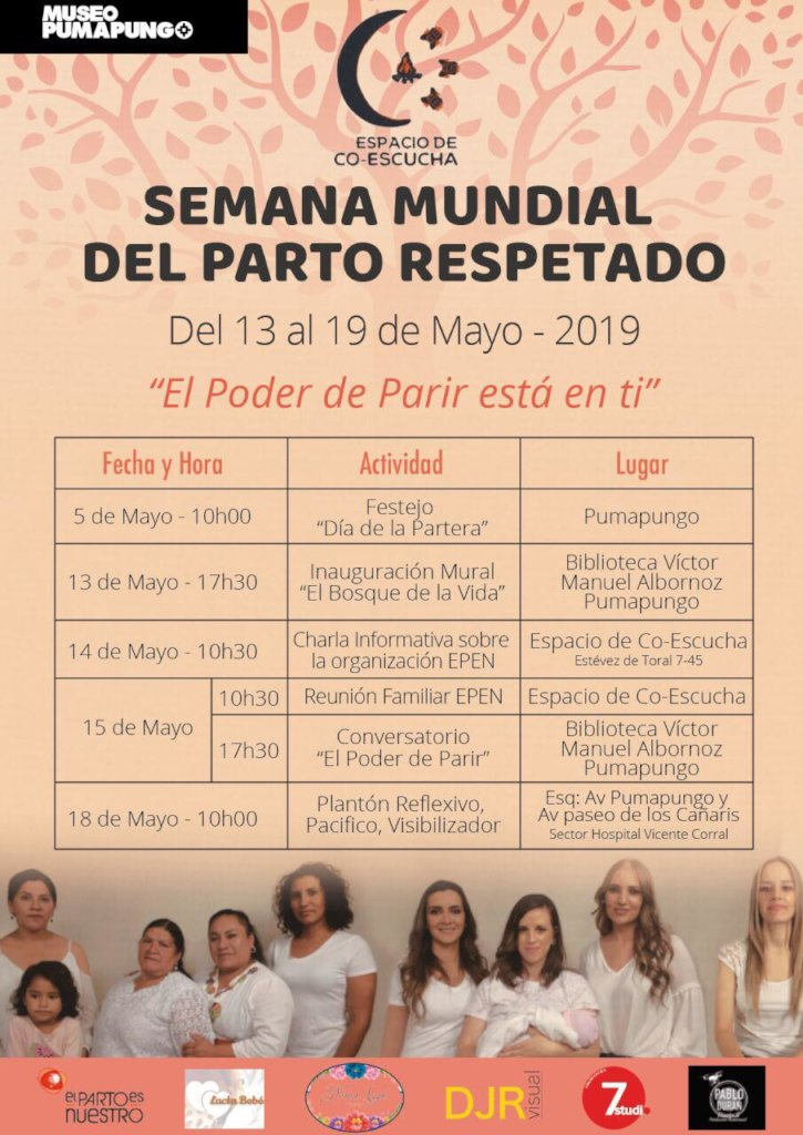 Program Calendar for Respected Childbirth Week