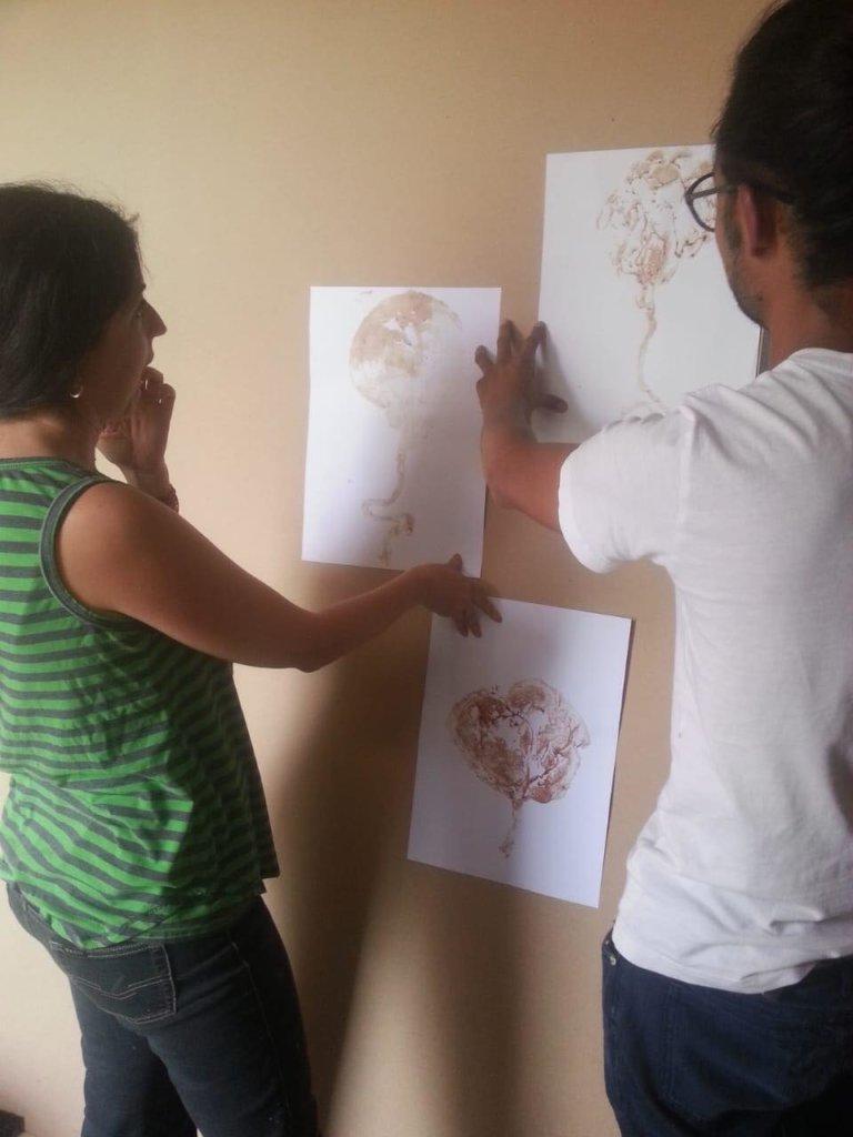 """Artist in action for """"Bosque de la Vida"""" mural"""