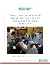 Full report Kigoma Dental Camp May 2018 (PDF)