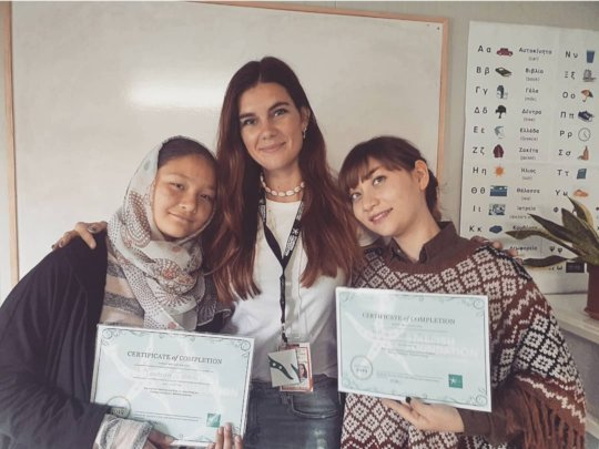 Nazanin and Yeganeh received their certificates!