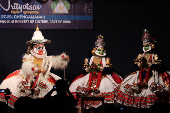 Children enjoyed 'Kathakali' for the first time
