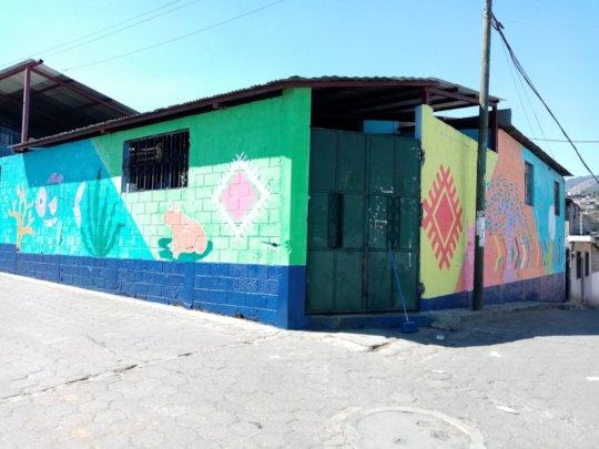 School mural front of school