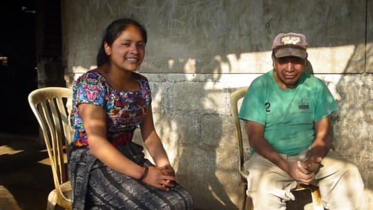 Marly interviewing Don Octavio