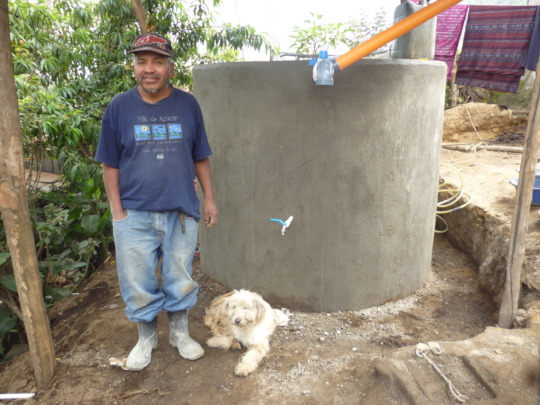 Completed rainwater harvesting system