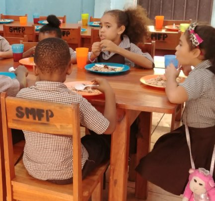 Provide Chairs & Tables-St.Mary's School-Belize