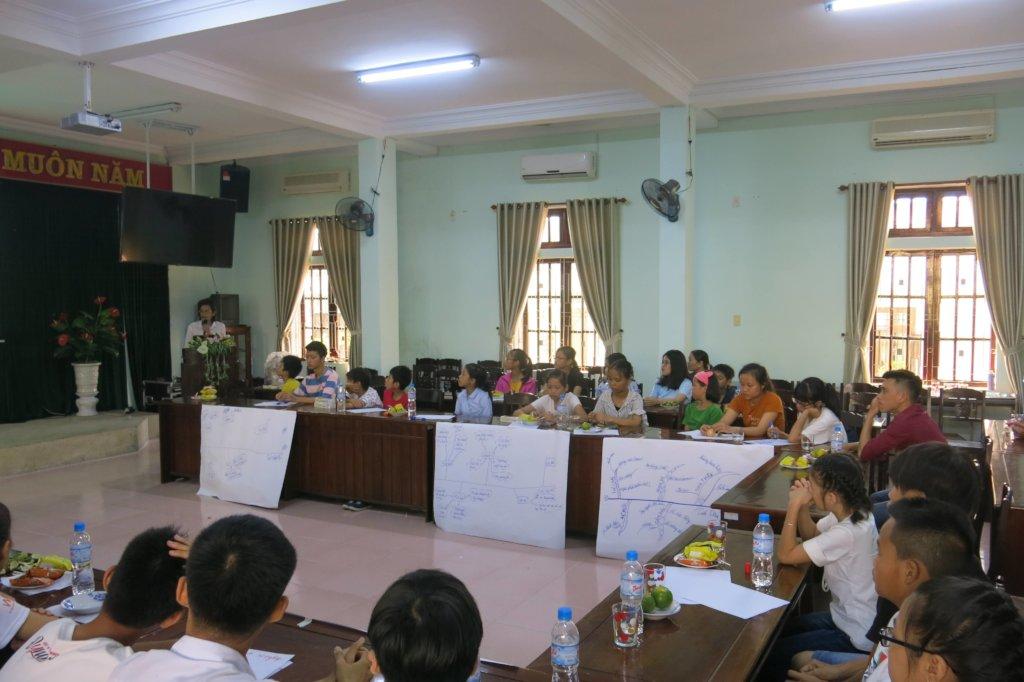 Training for children of CS DOLISA Hue