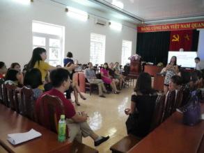 Teachers training in Quang Ninh