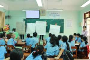 Training to students in Hue Province